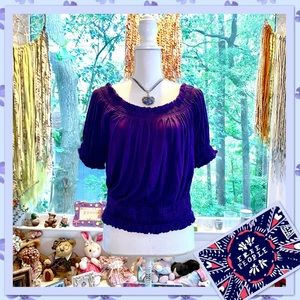 🌻 Free People Michelina Crop Top Royal Purple 🌻